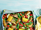 """<p>This tray bake is packed full of flavour.</p><p><strong>Recip</strong><strong>e: <a href=""""https://www.goodhousekeeping.com/uk/food/recipes/a26354128/jerk-tofu-traybake/"""" rel=""""nofollow noopener"""" target=""""_blank"""" data-ylk=""""slk:Jerk tofu tray bake"""" class=""""link rapid-noclick-resp"""">Jerk tofu tray bake</a></strong></p>"""