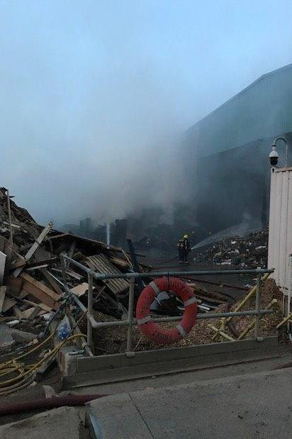 Fire: Crews worked at the scene for over four hours (London Fire Brigade)