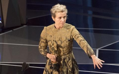 Frances McDormand, the Oscars best actress winner, finished a speech by endorsing inclusion riders - Credit:  Ed Herrera/Disney