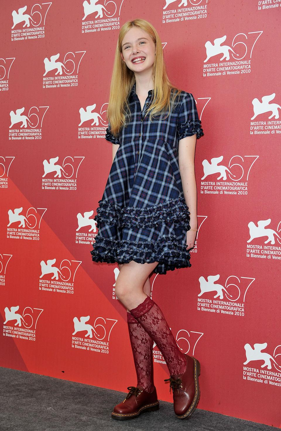 "Fanning at the ""Somewhere"" photo call during the 67th Venice Film Festival at the Palazzo del Casino in Venice, Italy."