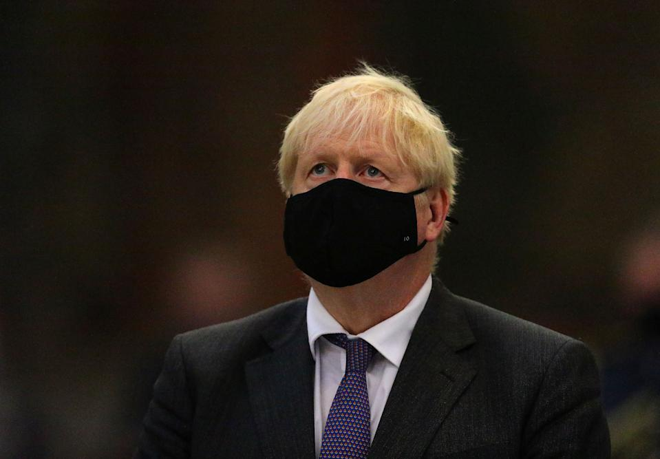 Prime Minister Boris Johnson during a service to mark the 80th anniversary of the Battle of Britain at Westminster Abbey, London.