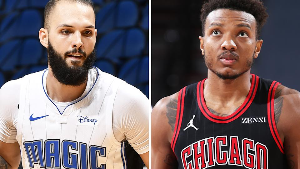 Evan Fournier and Wendell Carter Jr are two players whose fantasy value is likely to be significantly impacted by being traded to a new team at the deadline. Pictures: Getty Images