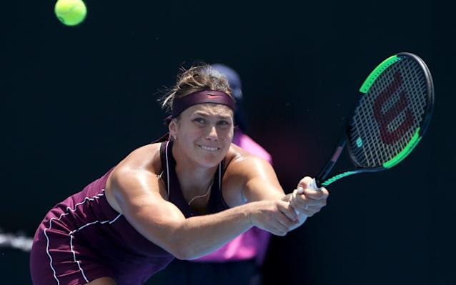 Aryna Sabalenka has been criticised by some for her on-court scraming - AP