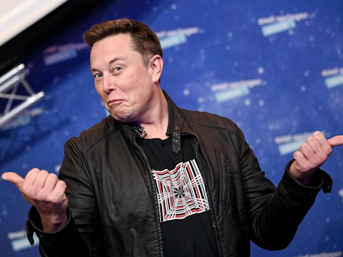 <p>SpaceX owner and Tesla CEO Elon Musk poses on the red carpet of the Axel Springer Award 2020 on 1 December 2020 in Berlin, Germany.  </p> ((Photo by Britta Pedersen-Pool/Getty Images))
