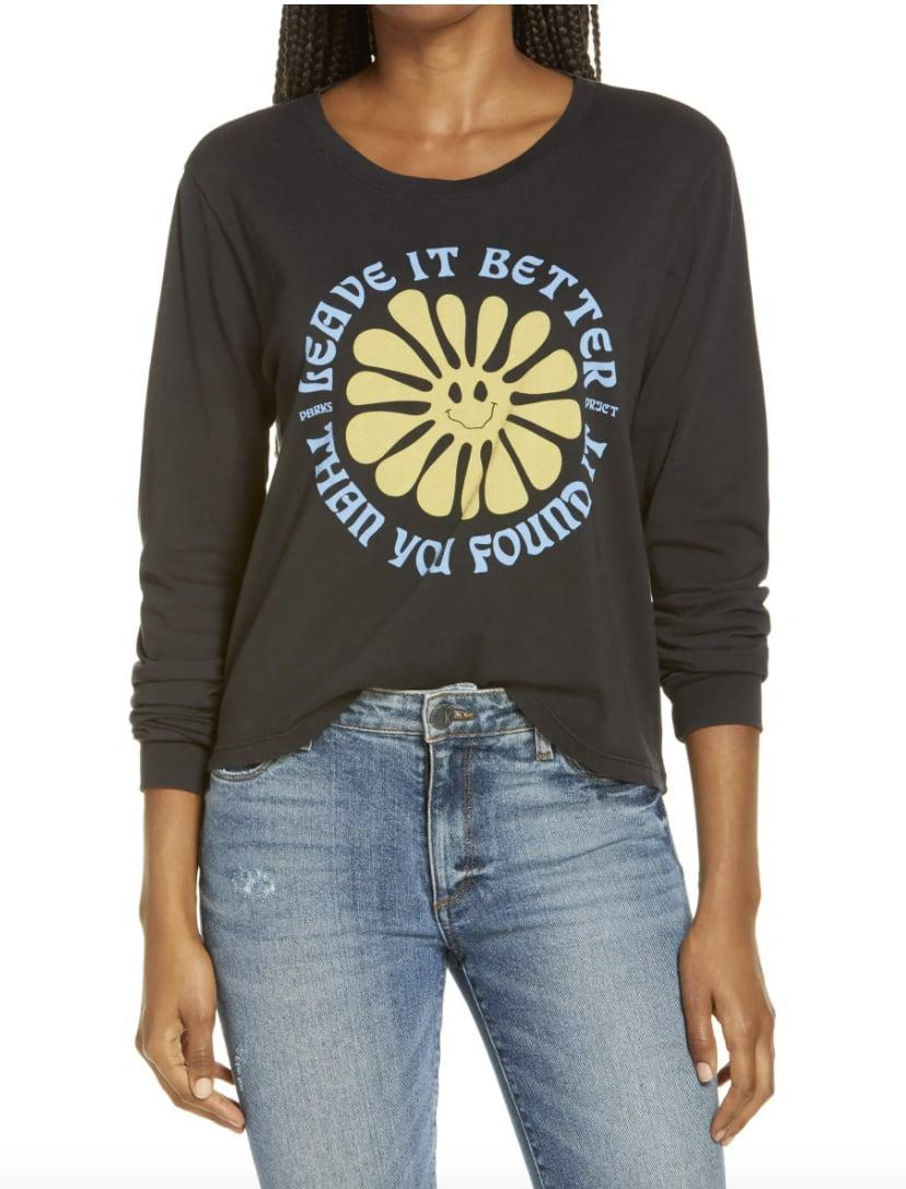 <p>This <span>Parks Projects Leave It Better Than You Found It Long Sleeve Graphic Tee</span> ($42) is a reminder to care for the world.</p>