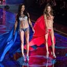 <p>Two fantasy bras, both named the Dream Angels Fantasty Bra, were crafted for the 2014 show, which was held in London. Worth $2 million each, the pair must've been heavily protected backstage. <em>[Photo: Getty]</em> </p>