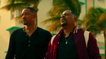 """Almost 15 years after <a href=""""https://uk.movies.yahoo.com/tagged/bad-boys"""" data-ylk=""""slk:Bad Boys II"""" class=""""link rapid-noclick-resp""""><em>Bad Boys II</em></a>, Will Smith and Martin Lawrence reunite and, this time, they're about to retire. Naturally, retirement doesn't go as well as they hope and they're soon plunged into shooty-runny-jumpy chaos. It'll be a ton of fun. (Credit: Sony)"""