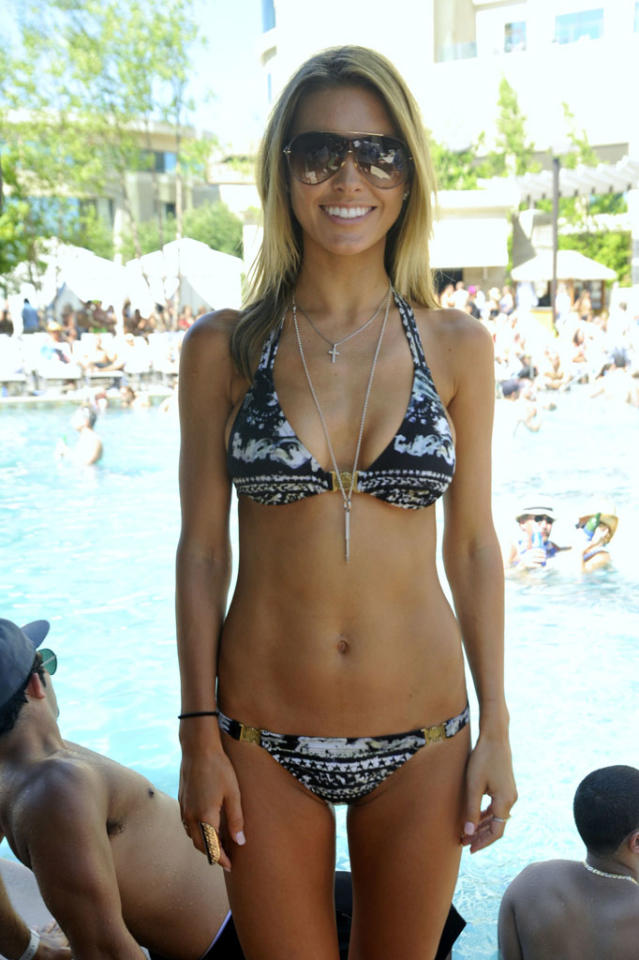 "<b>Audrina Patridge</b><br><br>""The Hills"" star Audrina Patridge certainly does her best work while she's wearing a bikini -- Carl's Jr. commercial, anyone? Here she is looking as sexy as she always does ... at a casino in Mashantucket, Connecticut? Sure, I guess."
