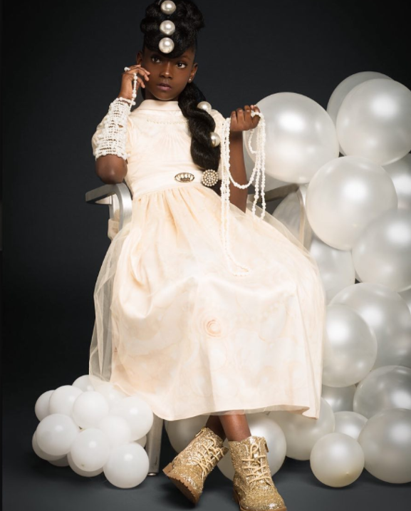 <p>10-year-old designer stuns in new photo series. </p>
