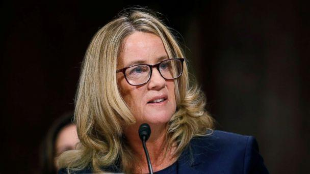 PHOTO: Professor Christine Blasey Ford testifies before a Senate Judiciary Committee confirmation hearing for Kavanaugh on Capitol Hill, Sept. 27, 2018 in Washington. (Jim Bourg/Pool via Getty Images)