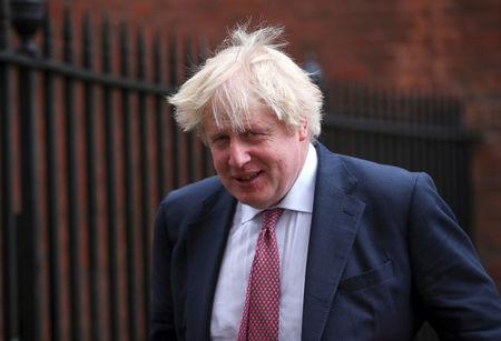 FILE PHOTO: Britain's Foreign Secretary Boris Johnson leaves 10 Downing Street in London