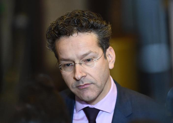 Eurogroup President and Dutch Finance Minister Jeroen Dijsselbloem arrives to take part in an Eurogroup Finance ministers meeting in Brussels, on January 26, 2015 (AFP Photo/Emmanuel Dunand)