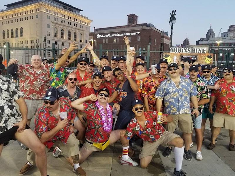 Large group of Magnum, PI lookalikes kicked out of Detroit Tigers game