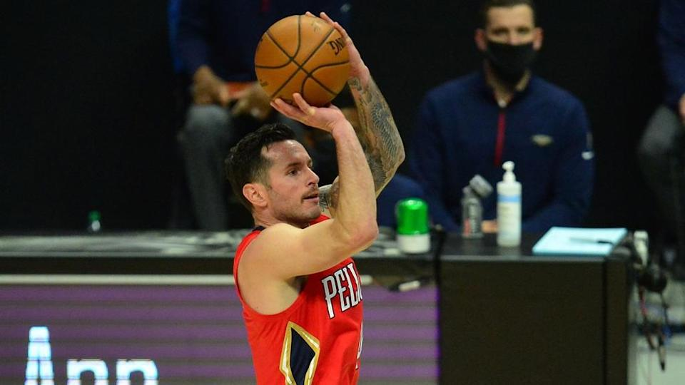 JJ Redick goes to shoot a three