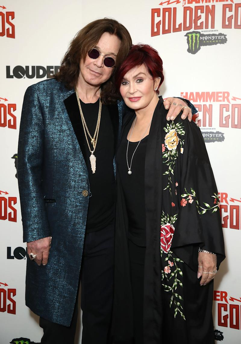 Ozzy and Sharon Osbourne. Image via Getty Images.