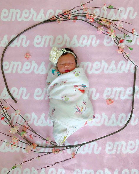 """<p><em>Bachelor</em> baby love! """"It's official! Say hello to Emerson Avery Tolbert! 'Emmy' for short,"""" shared Roper, who found love (and marriage) with Tanner Tolbert on <em>Bachelor in Paradise</em>. """"Born just a little early at exactly 36 weeks, she arrived weighing 6lbs 8oz and measuring 20"""" long! She is such an angel and we can't get enough of her!""""(Photo: <a href=""""https://www.instagram.com/p/BYCFULOAt6X/?taken-by=jadelizroper"""" rel=""""nofollow noopener"""" target=""""_blank"""" data-ylk=""""slk:Jade Roper via Instagram"""" class=""""link rapid-noclick-resp"""">Jade Roper via Instagram</a>)<br><br></p>"""