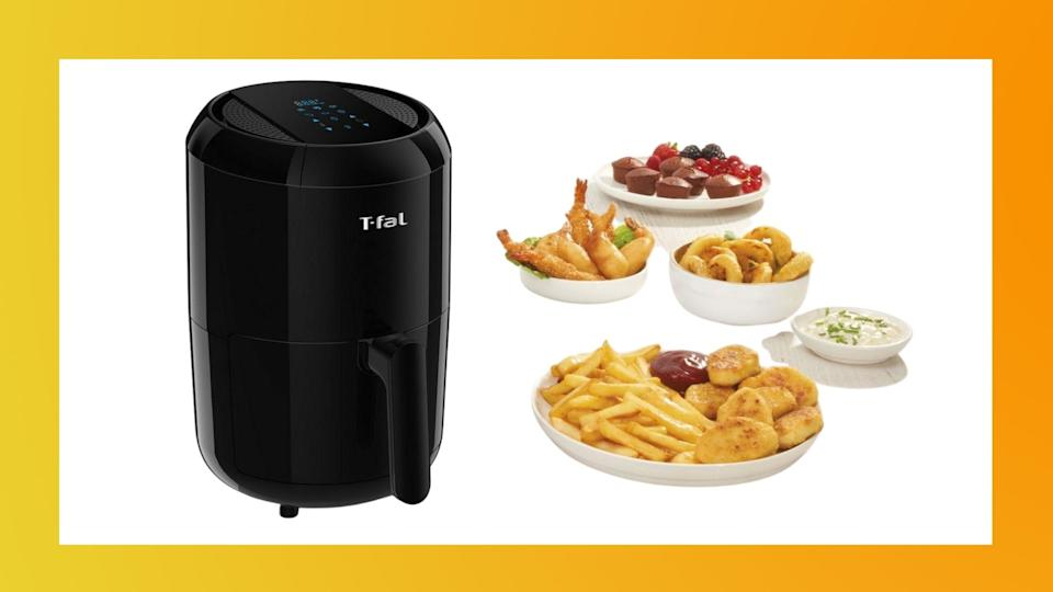 The T-Fal Easy Fry Compact Duo Precision Air Fryer is on sale for just $70 at Walmart (originally $120).