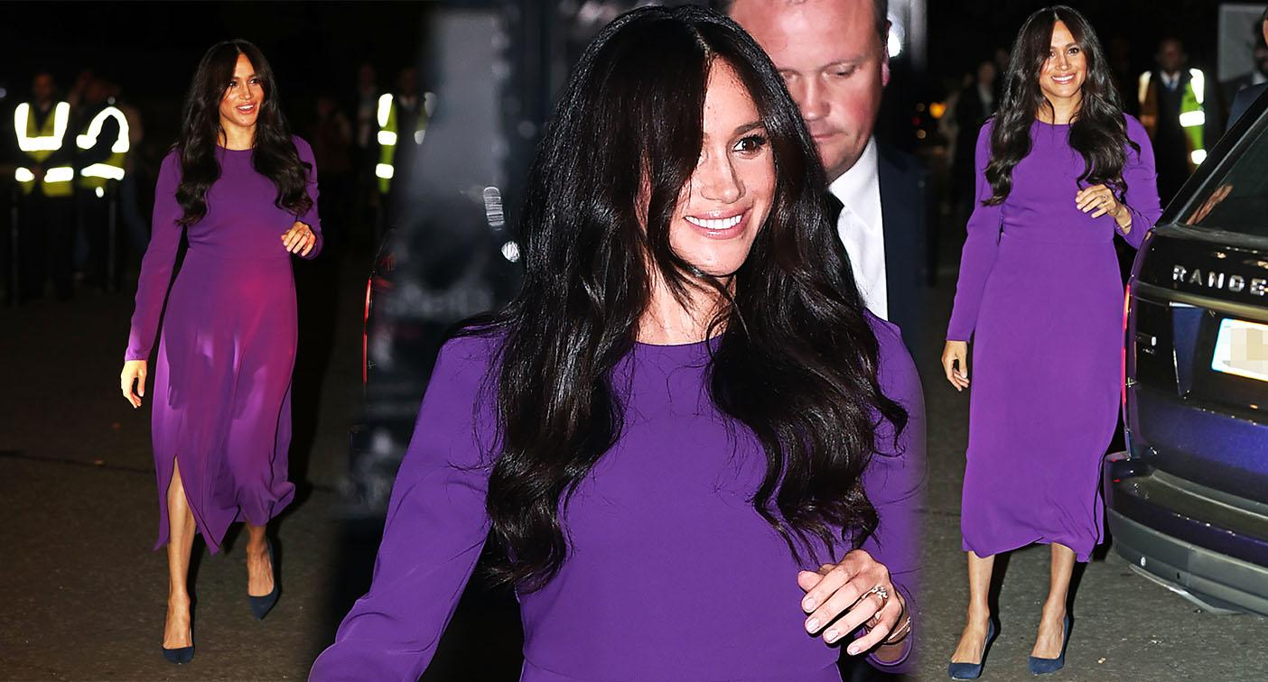 Meghan Markle arrives at the One Young World Summit Opening Ceremony Ceremony at the Royal Albert Hall in London. [Photo: Getty]