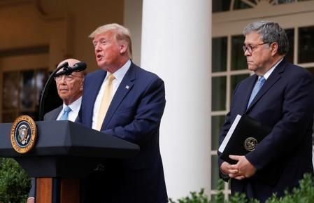 U.S. President Trump announces administration efforts to add citizenship question to 2020 census at the White House in Washington