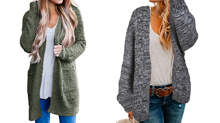 Stay cozy and covered for your appointment with a cardigan.