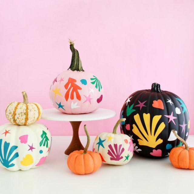 """<p>For a fresh new way to decorate your Halloween pumpkins, grab some matte vinyl and your Cricut cutting machine.</p><p><strong><em>Get the tutorial from <a href=""""https://ohsobeautifulpaper.com/2017/10/diy-matisse-inspired-pumpkins/"""" rel=""""nofollow noopener"""" target=""""_blank"""" data-ylk=""""slk:Oh So Beautiful Paper"""" class=""""link rapid-noclick-resp"""">Oh So Beautiful Paper</a>.</em> </strong></p>"""