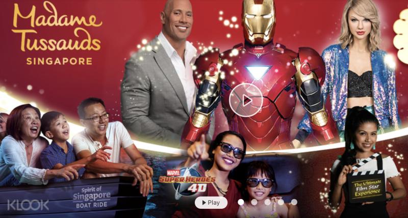 Madame Tussauds Skip-the-Line Ticket in Singapore, Friends bundle 4-in-1 combo + free snack (5 pax), S$55 (was S$214.50). PHOTO: Klook