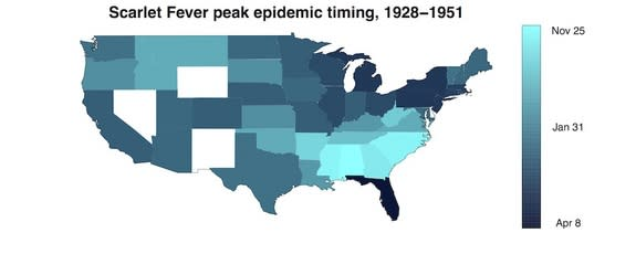 Why Children's Diseases Move South to North Across the US