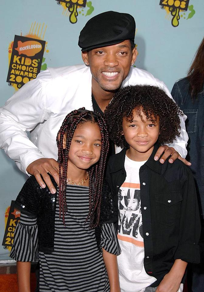 """Will Smith's kids are following in his footsteps. Son Jayden acted alongside Will in """"The Pursuit of Happyness,"""" while daughter Willow will appear in the upcoming """"Kit Kittredge: An American Girl."""" Steve Granitz/<a href=""""http://www.wireimage.com"""" target=""""new"""">WireImage.com</a> - March 29, 2008"""