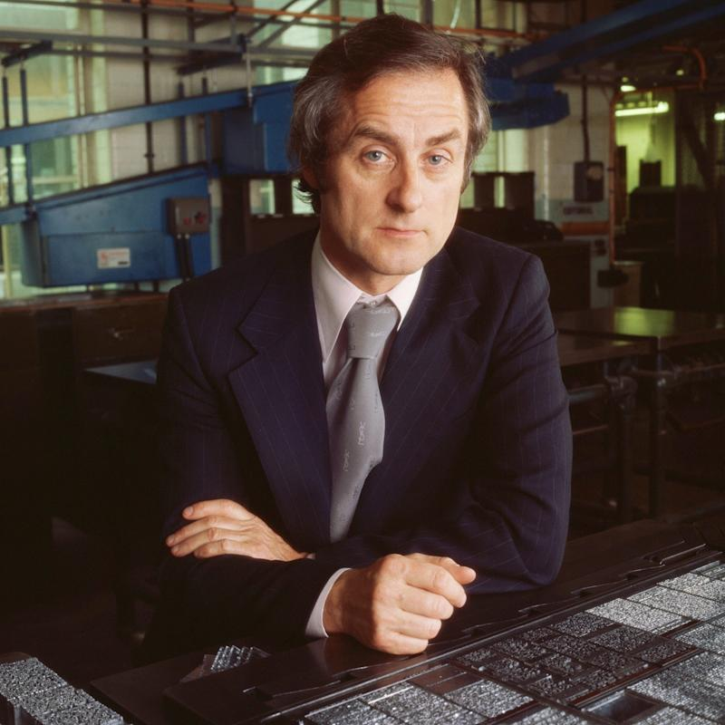 """Sir Harold Evans in 1975: """"What I loved about hot metal, apart from the aromatic urgency of all the paraphernalia, was the discipline it imposed in writing and editing."""" - David Montgomery/Premium Archive"""