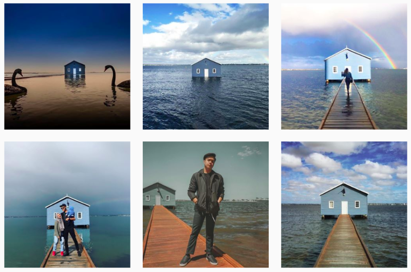 The Instagram geotag for the shed is filled with thousands of photos at the site. Source: Instagram