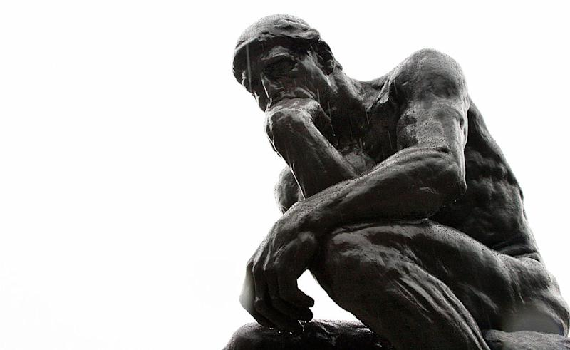 Pictured: 'The Thinker' by Rodin. Image: Getty