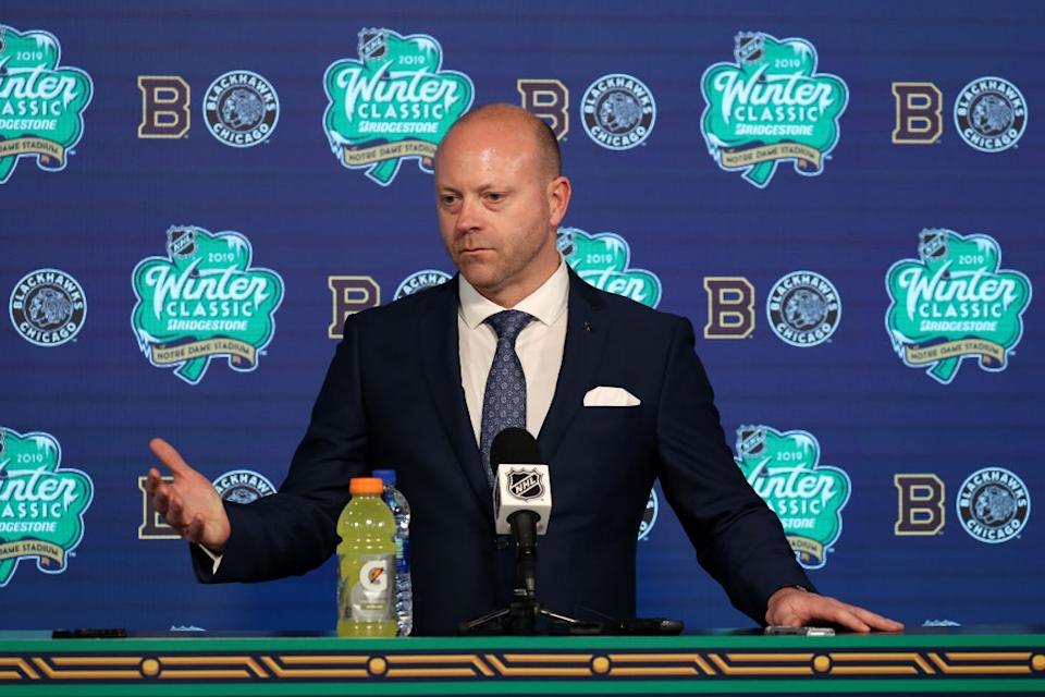 A think tank focused on child sexual abuse and prevention is asking the U.S. Olympic and Paralympic Committee to suspend Stan Bowman from his position as USA hockey Olympic GM. (Getty)