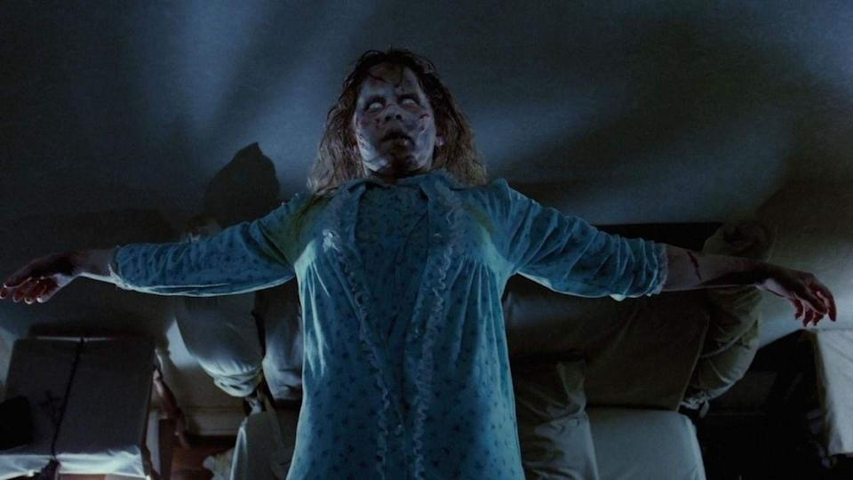 """<p><strong><em>The Exorcist</em></strong></p><p>A mother desperately seeks the aid of two priests to perform an exorcism on her young daughter who is possessed by a demonic entity.<br></p><p><a class=""""link rapid-noclick-resp"""" href=""""https://www.amazon.com/Exorcist-Ellen-McRae/dp/B00124PXW8/?tag=syn-yahoo-20&ascsubtag=%5Bartid%7C10055.g.29120903%5Bsrc%7Cyahoo-us"""" rel=""""nofollow noopener"""" target=""""_blank"""" data-ylk=""""slk:WATCH NOW"""">WATCH NOW</a></p>"""