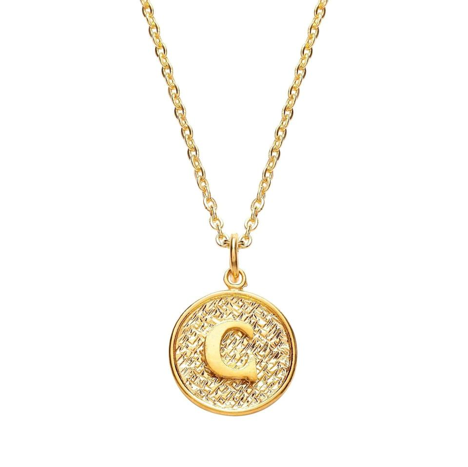 """<br><br><strong>Ottoman Hands</strong> Gold Initial Necklace, $, available at <a href=""""https://www.ottomanhands.com/products/gold-initial-necklace"""" rel=""""nofollow noopener"""" target=""""_blank"""" data-ylk=""""slk:Ottoman Hands"""" class=""""link rapid-noclick-resp"""">Ottoman Hands</a>"""
