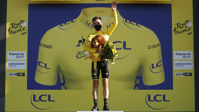 Julian Alaphilippe penalty means yellow jersey for Adam Yates in Tour de France
