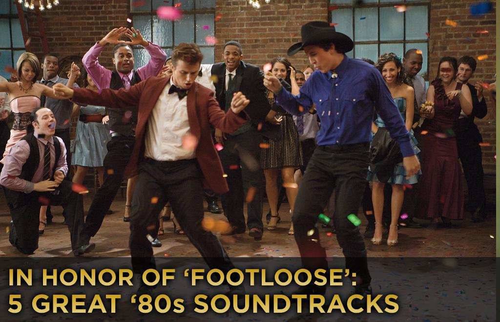"A huge part of the allure of the original ""Footloose"" was the soundtrack of catchy, radio-friendly songs it produced back in 1984. ""Let's Hear It for the Boy,"" ""'Dancing in the Sheets,"" ""Almost Paradise"" and, of course, the title tune -- they were top-40 favorites and mainstays in our boom boxes, and they brought us back emotionally to a movie that was such a cultural touchstone during our formative years. With the remake of ""Footloose"" coming out this weekend, it's a great opportunity to dig through our cassette collection, reminisce about childhood and <a href=""http://movies.yahoo.com/news/honor-footloose-5-great-80s-soundtracks-224244230.html"">pick five other great movie soundtracks from the '80s</a>:"