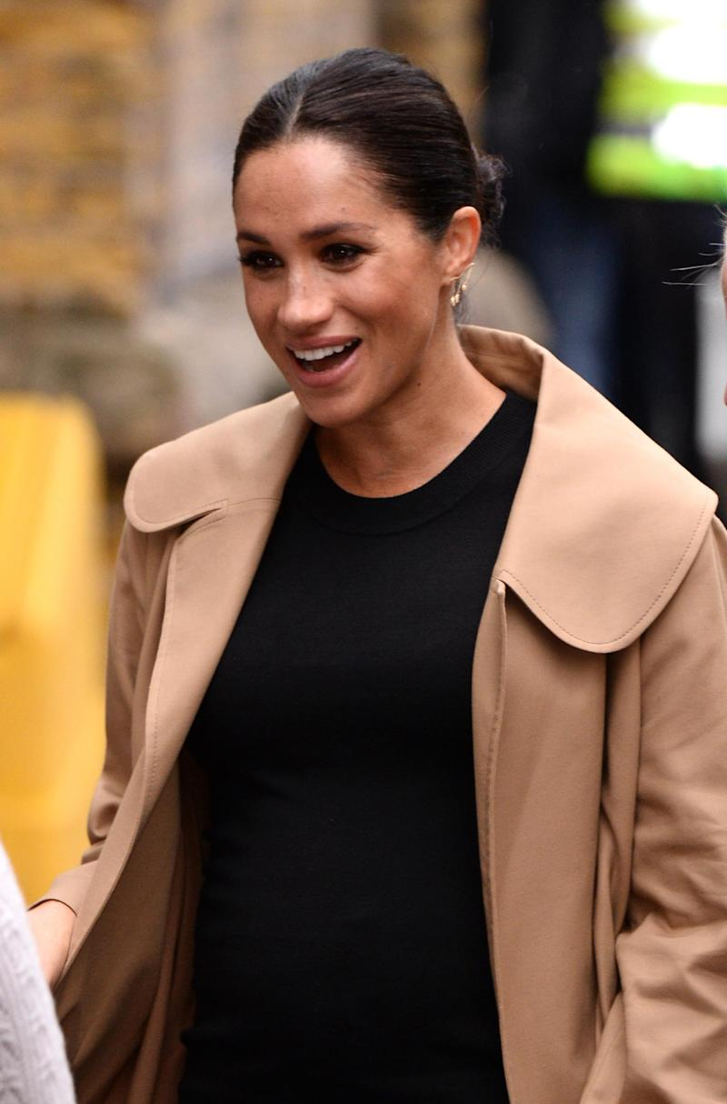 The duchess rocked a statement earring by sustainable brand Kimai (Getty Images)