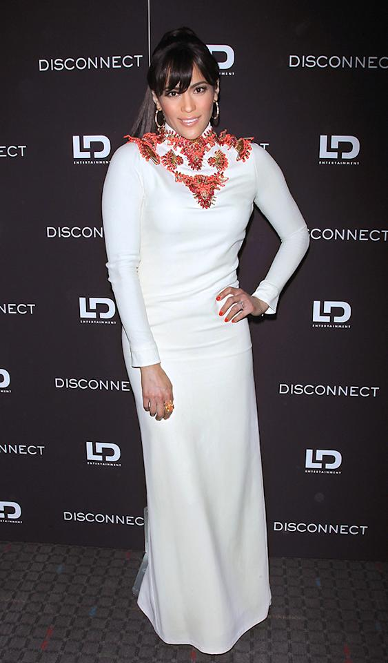 "Paula Patton made the mistake of being worn by this Gucci gown to a NYC screening of her recently released thriller, ""Disconnect."" Clearly there was a disconnect between her personal sense of style and what actually looks good. (4/8/2013)"