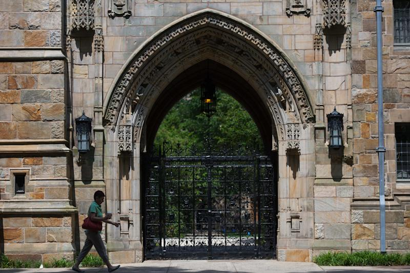 Yale University is one of several Ivy League schools fighting union campaigns by graduate students. (Craig Warga/Bloomberg via Getty Images)