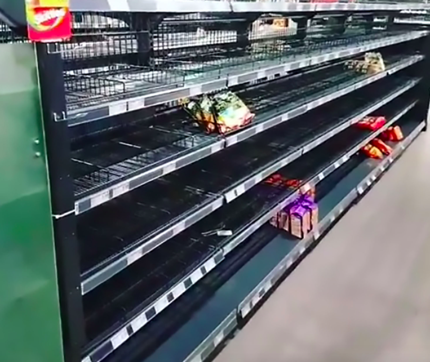 <em>The supermarket said their shelves were boring without variety (CEN)</em>