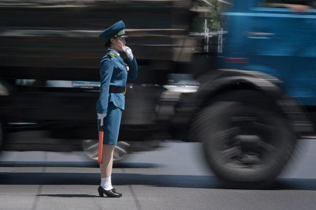 Driven to distraction: Pyongyang's 'traffic ladies'