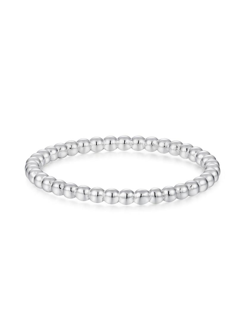 """Get the <a href=""""https://shoppoirier.com/collections/rings/products/silver-beaded-band"""" target=""""_blank"""" rel=""""noopener noreferrer"""">Poirier silver beaded band, available in sizes 7-13, for $42</a>"""