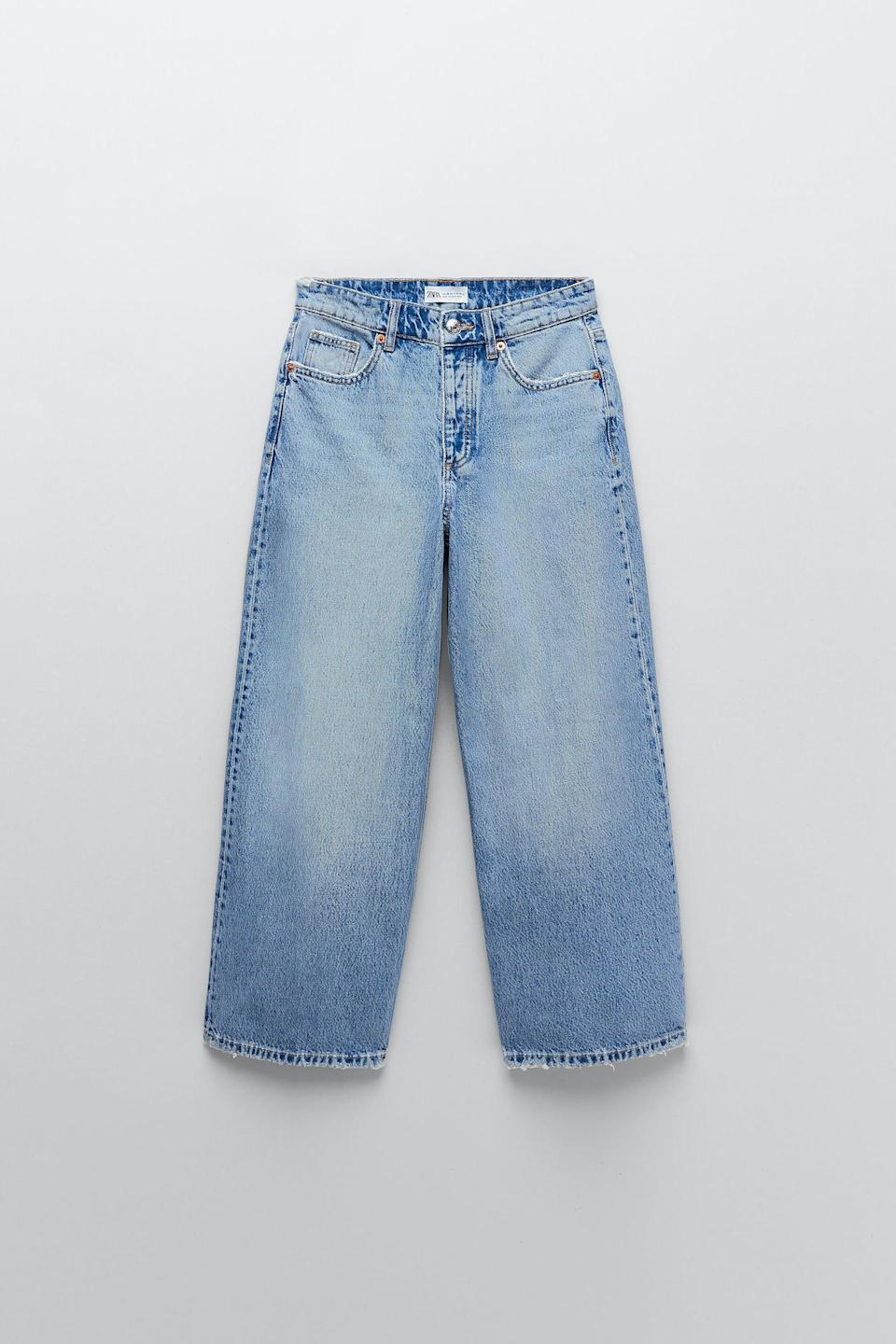 <p>These <span>Zara Hi-Rise Wide Leg Cropped Jeans</span> ($40) come in five different colors, so you can have a designated pair for each workday. </p>