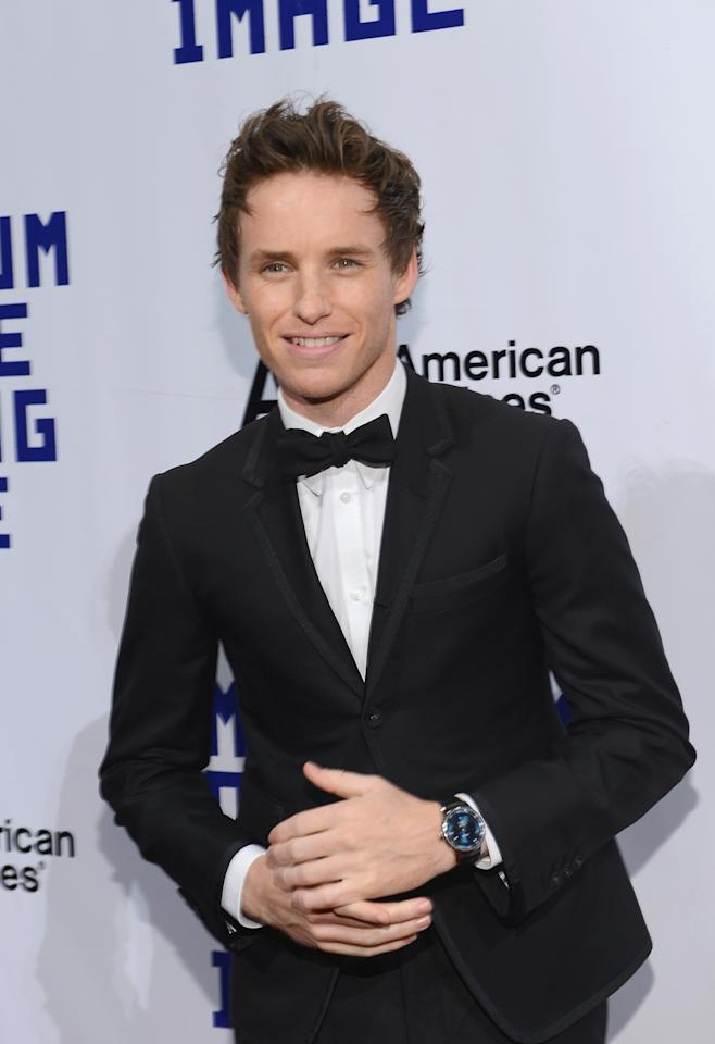 NEW YORK, NY - DECEMBER 11:  Actor Eddie Redmayne attends the Museum Of Moving Images Salute To Hugh Jackman at Cipriani Wall Street on December 11, 2012 in New York City.  (Photo by Larry Busacca/Getty Images)