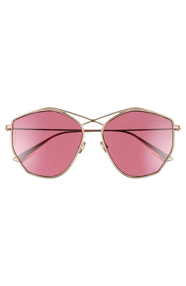 """<p><strong>Dior</strong></p><p>nordstrom.com</p><p><strong>$282.00</strong></p><p><a href=""""https://go.redirectingat.com?id=74968X1596630&url=https%3A%2F%2Fshop.nordstrom.com%2Fs%2Fdior-59mm-metal-sunglasses%2F4892889&sref=http%3A%2F%2Fwww.cosmopolitan.com%2Fstyle-beauty%2Ffashion%2Fg29787840%2Fnordstrom-fall-2019-sale%2F"""" target=""""_blank"""">Shop Now</a></p>A crisscrossing bridge detail amps up the shine on modern, angular Italian sunglasses fashioned with slender metal frames.""""/"""