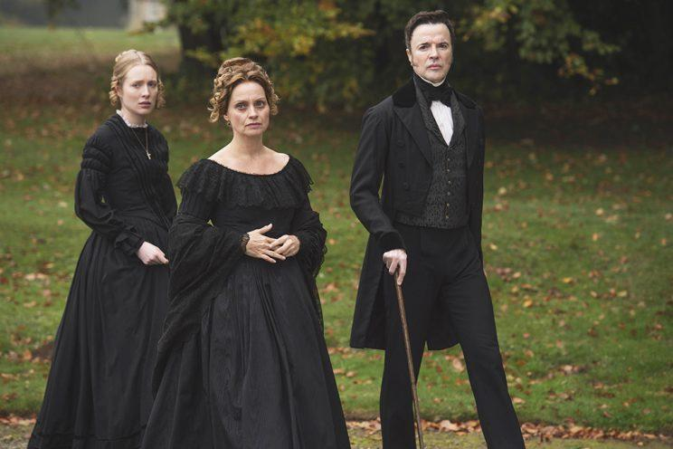 Alice Orr-Ewing, Catherine Flemming, and Paul Rhys (Credit: PBS Masterpiece)