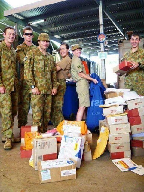 Australia Post will send packs to troops for free if they adhere to guidelines. Photo: Supplied