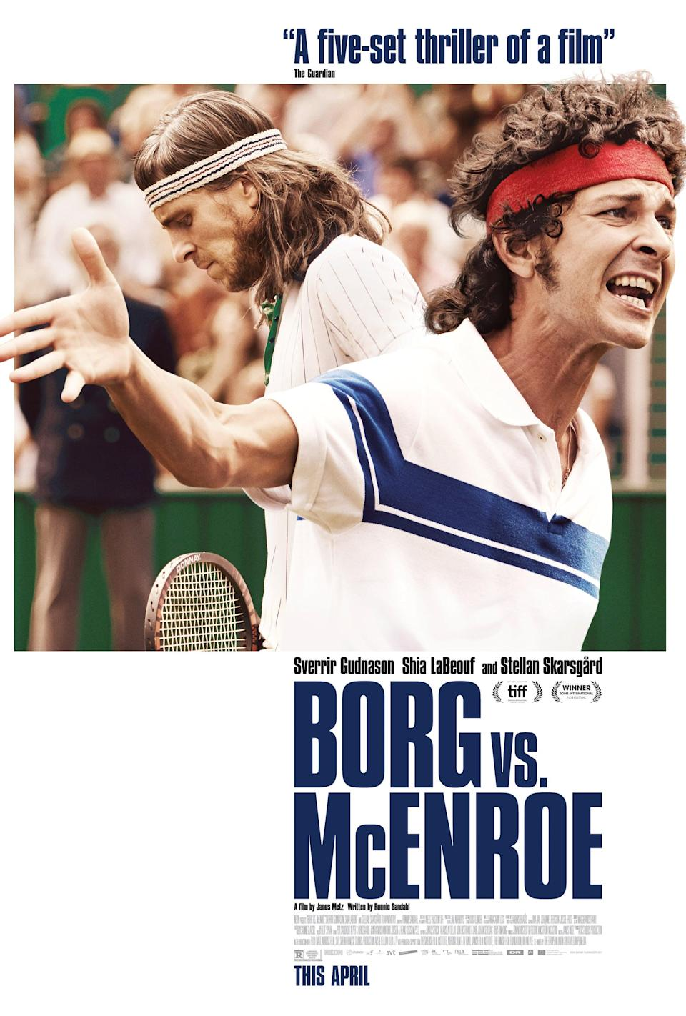 """<p>At the height of his career, tennis player Björn Borg prepares for the 1980 Wimbledon championship where he'll face American athlete John McEnroe. All eyes are on Borg, and if he can manage to pull it off, this will be his fifth Wimbledon championship win. It's now or never.</p> <p><a href=""""http://www.hulu.com/movie/borg-vs-mcenroe-95852fe0-1222-495b-85af-b05e2d3d6545"""" class=""""link rapid-noclick-resp"""" rel=""""nofollow noopener"""" target=""""_blank"""" data-ylk=""""slk:Watch Borg vs. McEnroe on Hulu."""">Watch <strong>Borg vs. McEnroe</strong> on Hulu.</a></p>"""