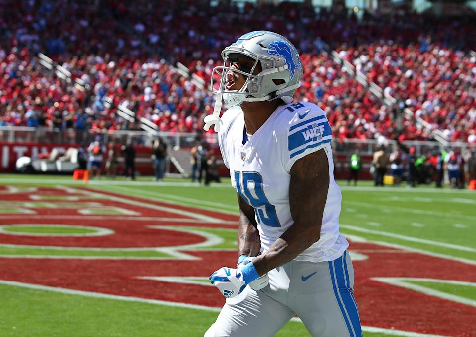 Kenny Golladay's rookie contract expires after this season, but the Lions could still use the franchise tag on him.