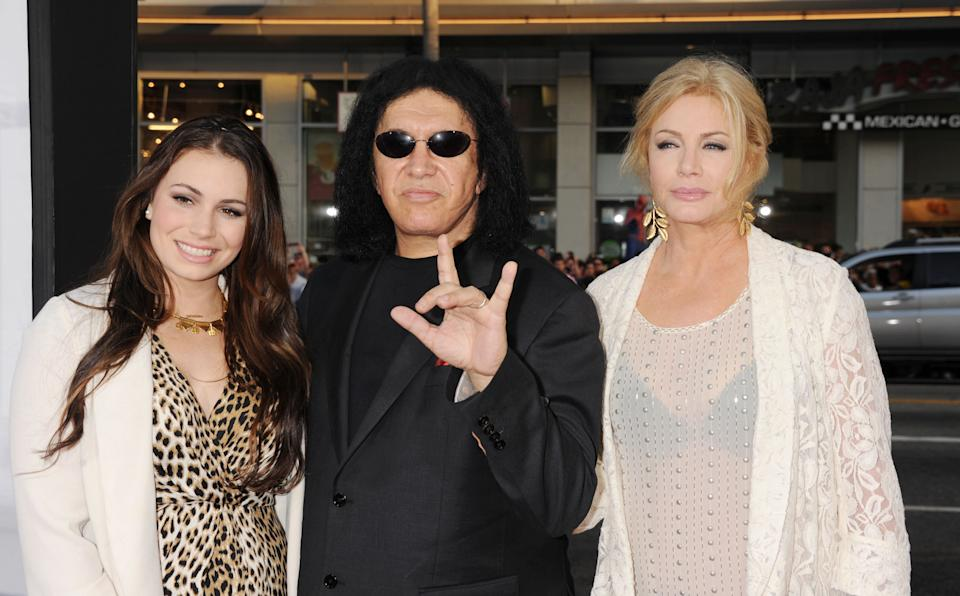 Sophie Simmons, Gene Simmons. and Shannon Tweed in 2012. (Photo: Jeffrey Mayer/WireImage)